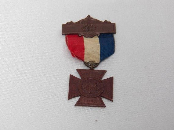 Post Civil War Memorabilia- Women's Relief Corps CFL -1883 Medal Ribbon -Badge -USA -GAR- American Service Antique