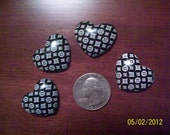 Louis Vuitton patterned heart shaped cabochons