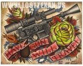 Star Wars Hans Solo Blaster Art Print