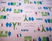 I Love Paris Home Dec Fabric from Kokka of Japan