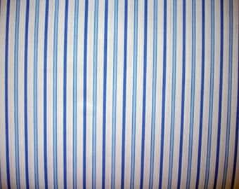 Little Boy Blue Stripe Cotton Broadcloth