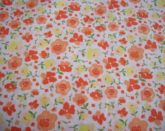 Sunny Floral Cotton Lawn Yardage