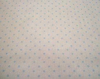 Blue Dots Cotton Broadcloth Yardage