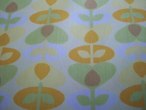 Yellow Flower Cotton Broadcloth Yardage