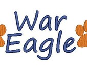 Auburn Tigers, War Eagle, Auburn Embroidery Design (47) Instant Download
