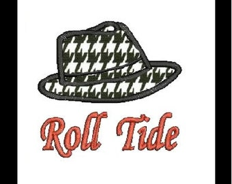 Alabama Hat Applique Embroidery Design (14) Instant Download