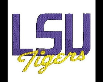 LSU Tigers, LSU Embroidery Design (22) Instant Download