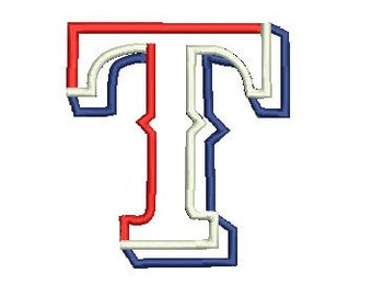 Texas Rangers Applique Embroidery Design, TX Tech, Texas Applique (37) Instant Download