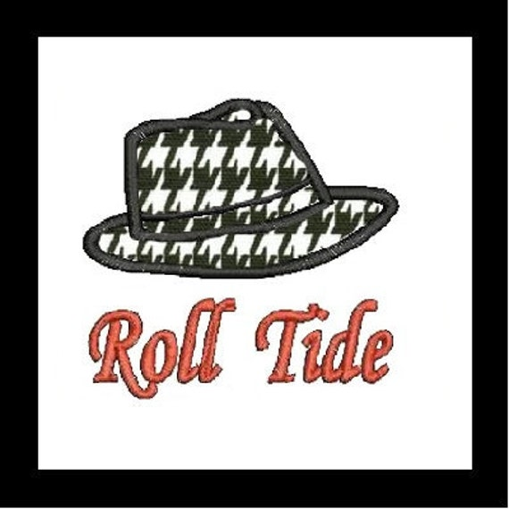 Alabama Hat Applique Embroidery Design (14) Instant Download
