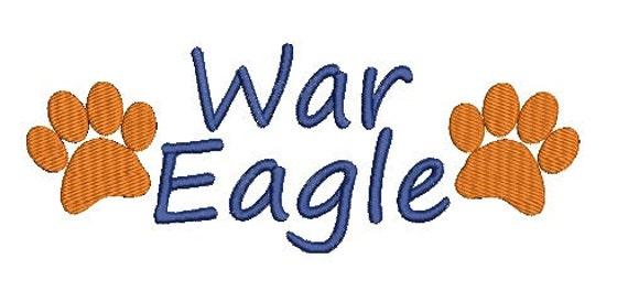 Auburn Tigers, War Eagle, Auburn Embroidery Design (47) Instant Download
