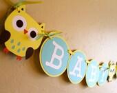 Baby Shower Banner- Owl Theme