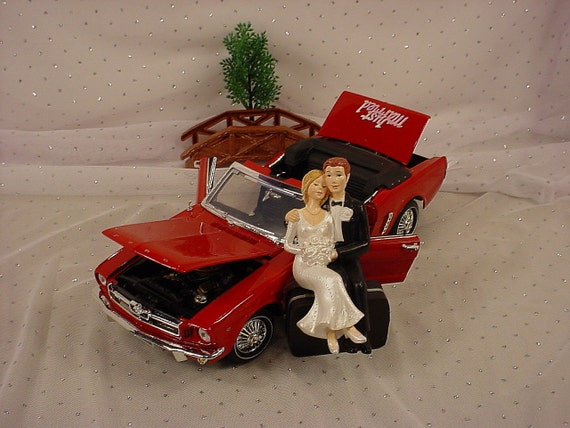 ford truck wedding cake topper items similar to ford 1964 mustang car grooms 14404