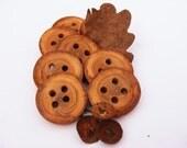Cowl wood buttons , Irish oak wood buttons 35/40mm