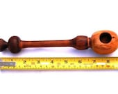 Herb pipe chillum, Pocket pipe made from Irish Blackthorn wood