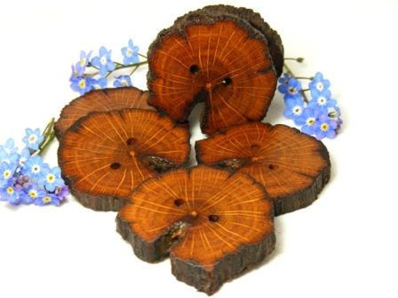 Handmade wood buttons, made from 1700yr. old Irish Oak tree 42/44mm