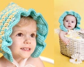 Blooming Bonnet ALL SIZES (Pattern Only) Instant Download