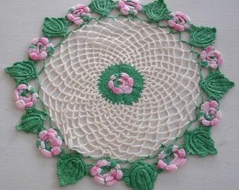 Floral Crochet Doily