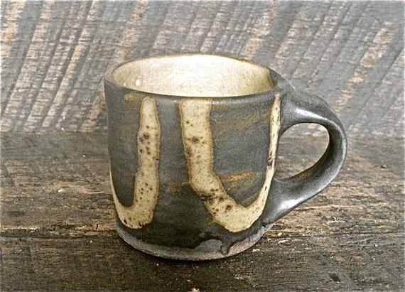 matte ash white with iron wash 6 oz. mug.