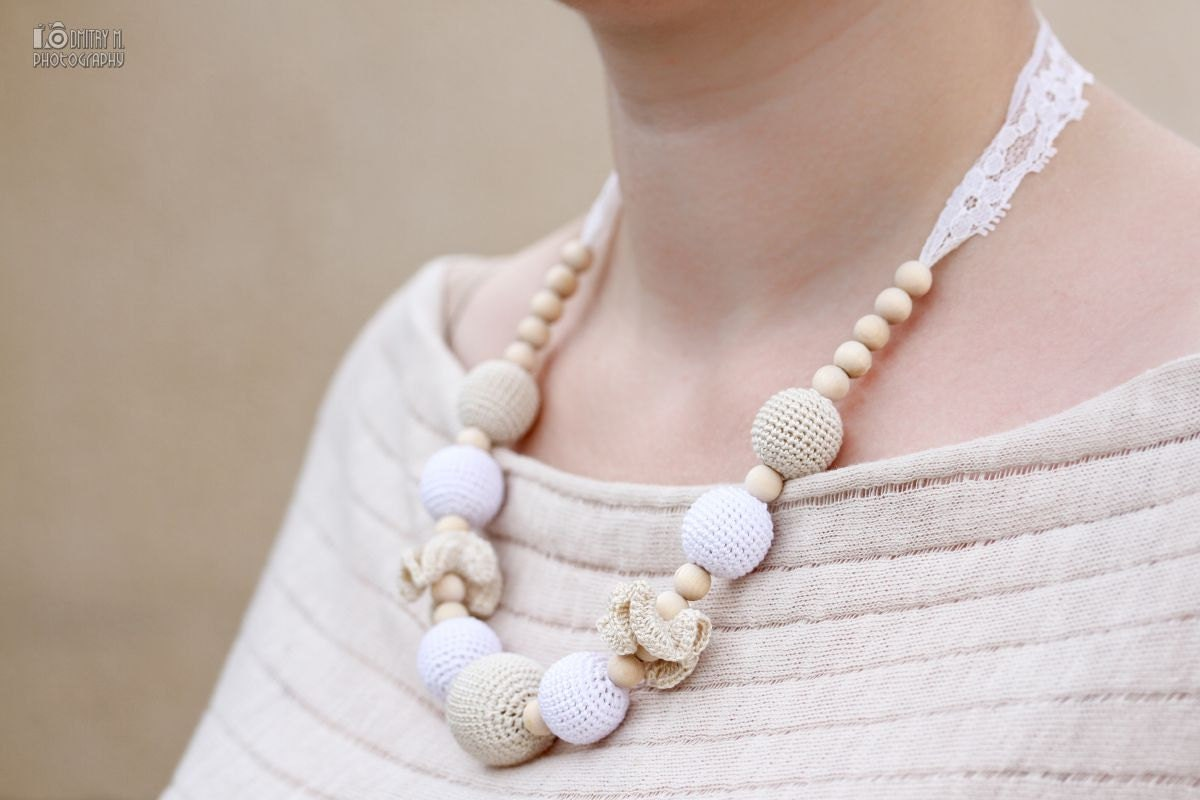 Nursing Mom Necklace Teething Necklace Breastfeeding