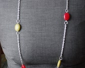 Green And Red Stone Necklace