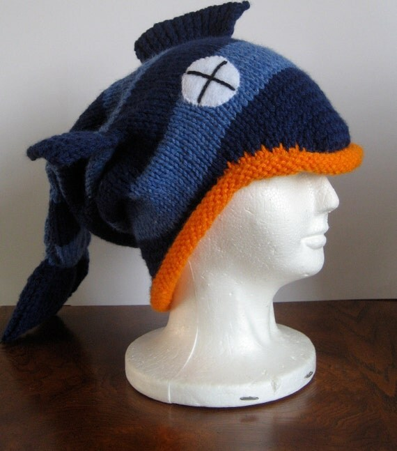 Knitting Pattern For Fish Hat : Knit Dead Fish Hat