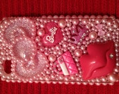 Kawaii Oversized Pink Bow and Smooch Lips Deco Den Iphone 4/ 4S Case