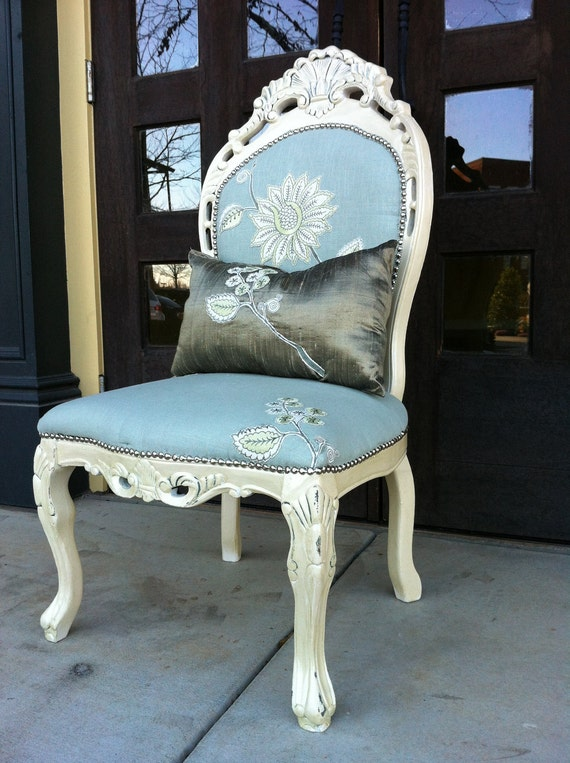 reserved for shabby chic accent chair by throneupholstery