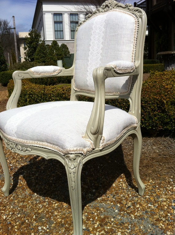 Reserved for Lane- Shabby Chic Accent Chair- Lacey