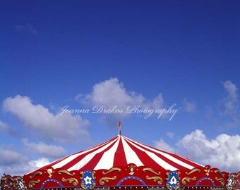 Carnival Carousel, Fine Art Photo Print, Large 10x14 Bright Nursery Art