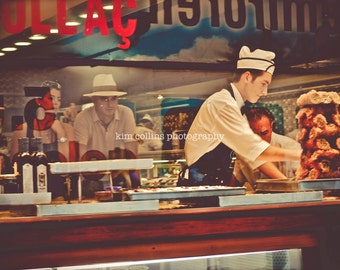 Serving it Up... Taksim Square Istanbul, Turkey-Travel Photography Multiple Sizes Available-Color-Fine Art Photography-Gift