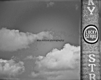Lucky Strike Smokestack 3- Downtown Durham,North Carolina-American Tobacco--Black and White-Multiple Sizes Available-Fine Art Photography