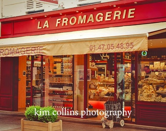 La Fromagerie,Fine Art Photography,Paris,France,multiple sizes available-parisian,cheese shop. red,Rue Cler,market