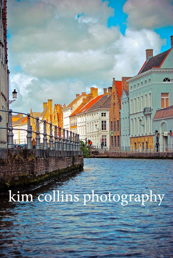 On The Water-Brugge Belgium Fine Art Photography-multiple sizes available-landscape-waterways-Belgium-Waterways-Gift-Photography-
