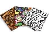 Fat Quarter Lot- Dia De Los Muertos, Skeleton Keys & Tiger Print