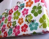 "Hawaiian Jewelry Holder and Key Rack Plumerias, Hawaiian flowers, Colorful , Blue, Green, Pink, Orange Hawaiian Flowers ""Hawaiian"""