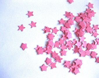 Mini Star Confetti Pink Star Punch Outs - Set of 100