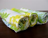 Lovely Leaf and Florals Burp Cloth - Set of 3