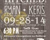 Custom Western Wedding Invitation, Wedding Invitations, Barn Wedding Invitations, Western Wedding Invitations, Country Wedding Invitation
