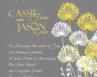 Custom Dandelion Wedding Invitation