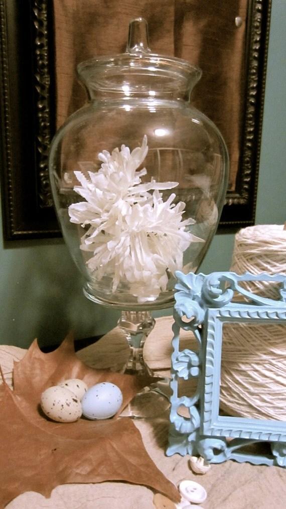 OOAK Upcycled apothocary jar wedding decor