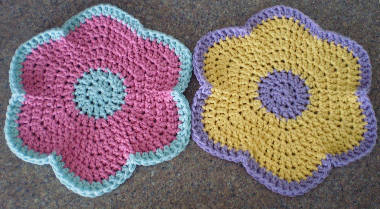 Round dishcloths crochet dishcloth crochet flower zoom bankloansurffo Gallery