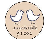 Wedding Favors - Wedding Save The Date Magnets - Wedding Thank You - Love Birds