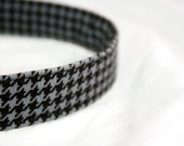 Dog Collar with Houndstooth in grey & Black -Free Shipping in the US-