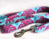 Dog Leash in Stunning Blue and Pink