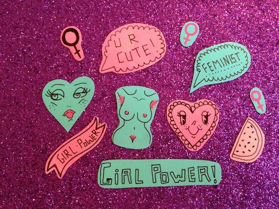 Feminist themed sticker pack