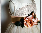 Vintage Flowergirl Dress Size 3-4