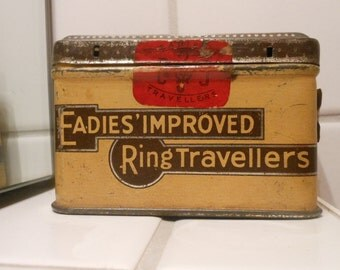 Early 1900s Tin - Eadies' Improved Ring Travellers (Scotland)