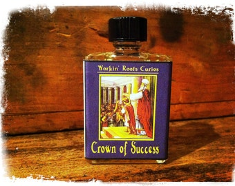 Crown of Success Oil - Hoodoo - Conjure - Witchcraft - Wicca - Voodoo - Occult - Magic - Oils - Anointing