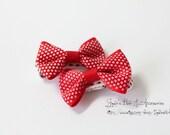 Baby red bows - polka dots