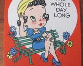 Vintage 1940's UNUSED Valentine Card Very Cute And Cheeky